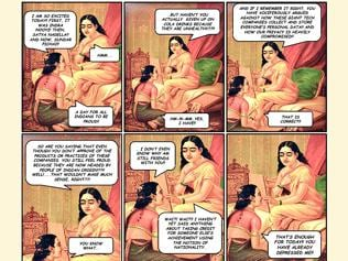 New this: Vintage art meets comic strips on current affairs
