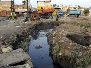 Indore's frail sewerage system