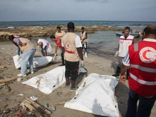 85 dead migrants found washed up in Libya: Red Crescent