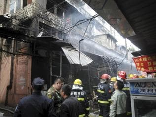 Gas cylinder explodes in restaurant in China, killing 17