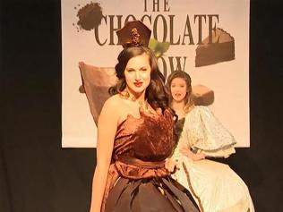 Watch   Models wear clothes made of chocolate to celebrate UK's chocolate...