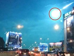 Watch | Falling meteor seen streaking across night sky in Thailand