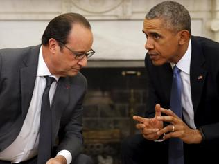 Obama and Hollande pledge solidarity against IS; call on Russia to join