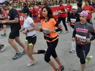 Participants overcome Delhi pollution to participate in half marathon