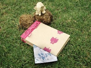 Stationery makers are selling paper made of animal excreta