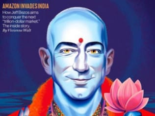 Jeff Bezos on Fortune cover as Lord Vishnu irks Hindus
