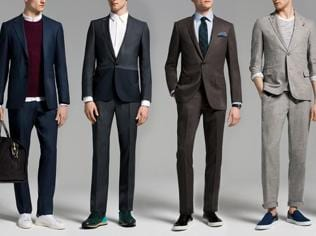 Fashionspiration: Of course, men can wear sneakers with a suit