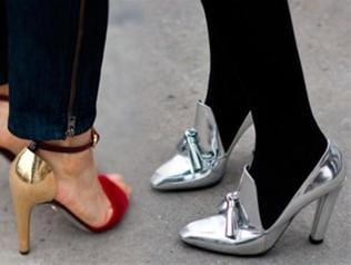 Trend alert: Silver, gold or rose gold, metallic shoes are totally in