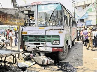 Six injured as PRTC bus goes out of control due to 'brake failure'