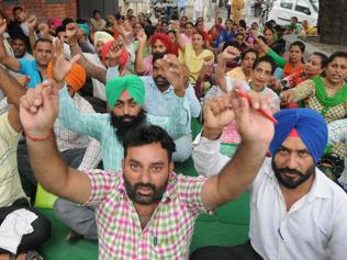 Day of protests in Patiala, cops on toes