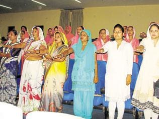 More women come forward for freedom from the veil in this Haryana village