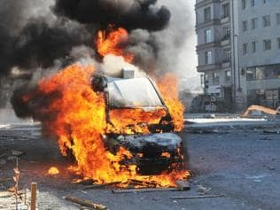 Palwal villagers torch vehicle carrying 'beef'