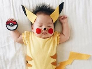 OMG: This sleeping baby has no idea her mom dresses her as celebs, cartoons