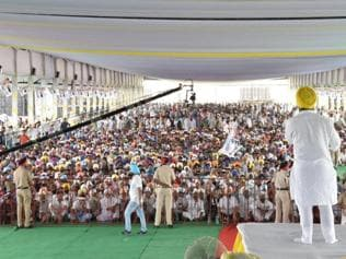 Highlights of the AAP rally in Moga as the party releases farmers' manifesto
