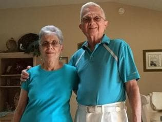 Grandparents married for 52 years wear matching outfits every day