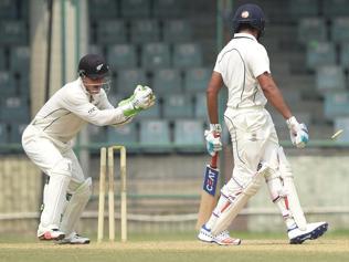 Mumbai dominate New Zealand, edgy Rohit dismissed cheaply again