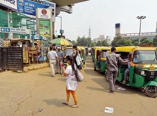 In pics: Errant Gurgaon auto drivers  tamed after recent police crackdown