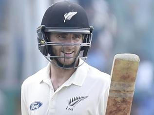 New Zealand skipper Kane Williamson shows the way to play spinners in India
