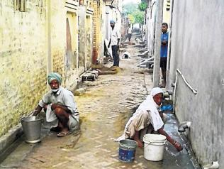 Poor drainage system in Lubana, Thuhi; Dalits harassed
