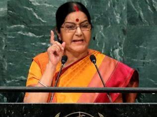 Abandon your Kashmir dream, it is integral part of India: Swaraj tells Pak