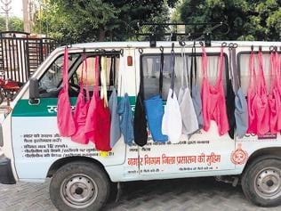 Administration van to spread awareness against polythene use