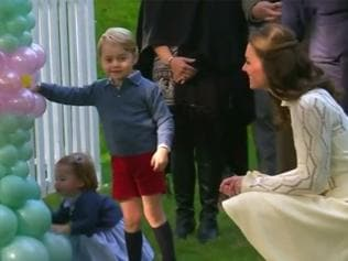 Watch | The little royals enjoy party in Canada