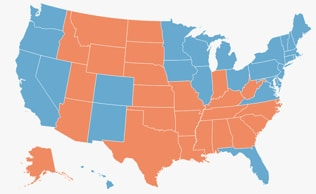 Four decades of presidents: US presidential election map
