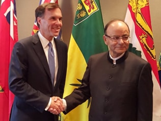 Jaitley meets Canadian finance minister, optimistic of growth in investments