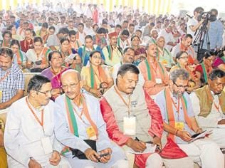 Infighting comes to fore at BJP's state executive meet in U'khand