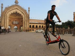 Lucknow student develops elliptical cycle for workout on the go