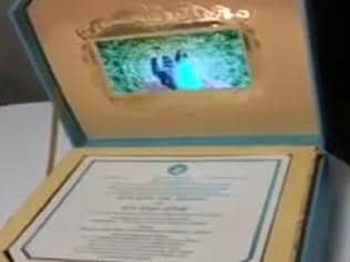 Watch   Ex-Karnataka minister sends LCD-in-a-box invite for daughter's wedding