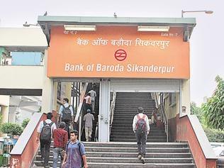 Gurgaon's Sikanderpur metro station is now Bank of Baroda Sikanderpur