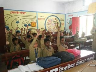 No books, no problem: Ceiling and walls help children learn in UP's Amethi