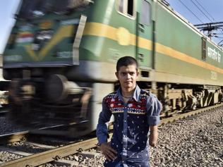 Boy hero: Kidnapped, run over by train, back on his feet