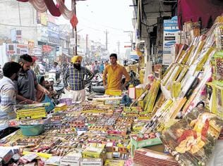 High-decibel crackers' sale rampant in Moga