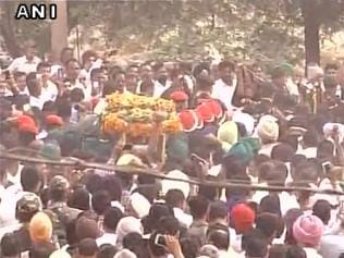 Martyr Mandeep Singh cremated with full state honours