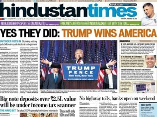 How newspapers across the world reacted to Trump's triumph