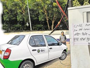 Cab drivers in the city feel the cash heat, as users prefer to pay online