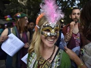 A life without fear: LGBTQ rights activists march in annual New Delhi p...