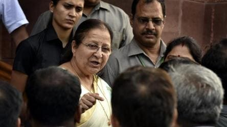 LS Speaker Sumitra Mahajan 'deeply hurt' by conduct of