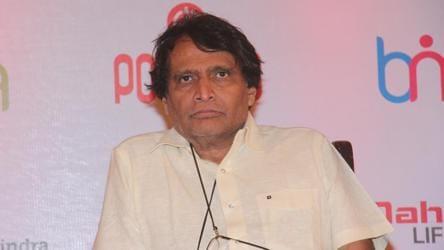 File photo of railways minister Suresh Prabhu.