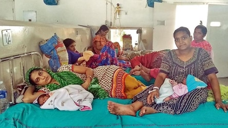 State Of Gynaecology Wards In Chandigarh Baby On Chair Mother On