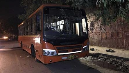 The bus on which a man was commuting when he was attacked by a group of about six teenagers.