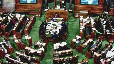 The Lok Sabha in session.
