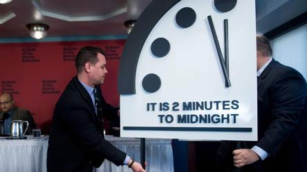 Doomsday Clock Now Just 2 Minutes Away From Midnight And Catastrophe World News Hindustan Times