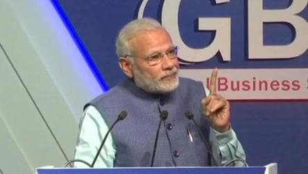 Prime Minister Narendra Modi at the Global Business Summit in New Delhi on Friday.