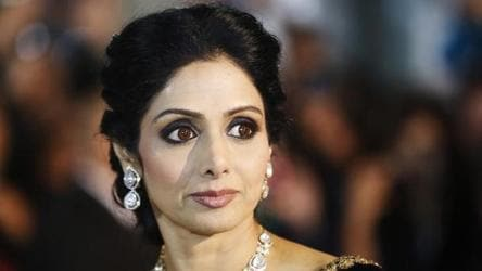 In this file photo, actor Sridevi can be seen arriving for the gala presentation of