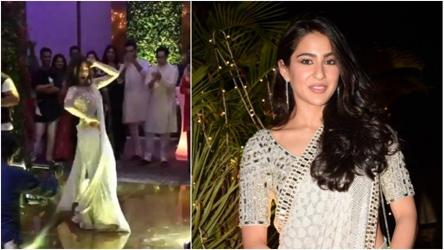 Star in the making Sara Ali Khan dances to Saat Samundar