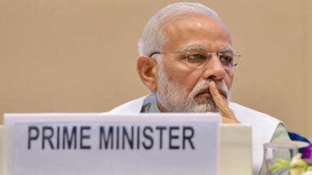 Prime Minister Narendra Modi during 12th Civil Services Day 2018 function in New Delhi on Saturday.
