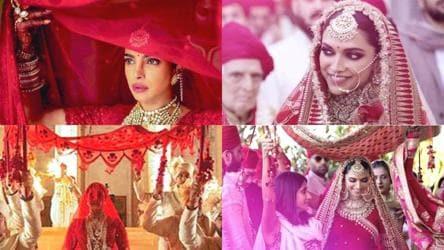 Priyanka Chopra Deepika Padukone S Lehengas Are Both Sabyasachi